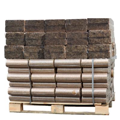 Mixte de briquettes de bois Pini Kay 100% chêne + Nestro chêne palette (960Kg)