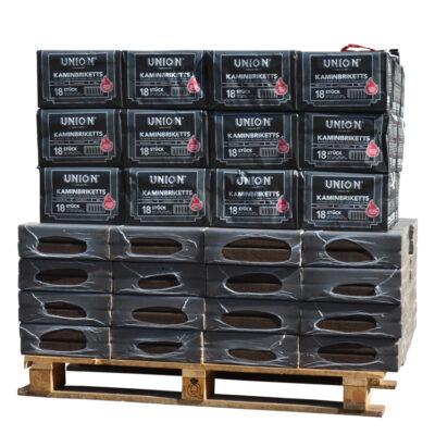 Mixte de briquettes de bois Pinikay 100% chêne + briquettes de lignite palette (930Kg)