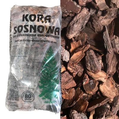 D'écorces Pinus Sylvestris Décor sac (60-120mm) 80L