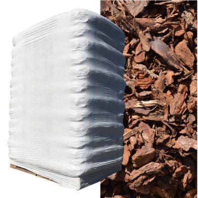D'écorces Pinus Maritima (20-40mm) Palette 2,15 kuub