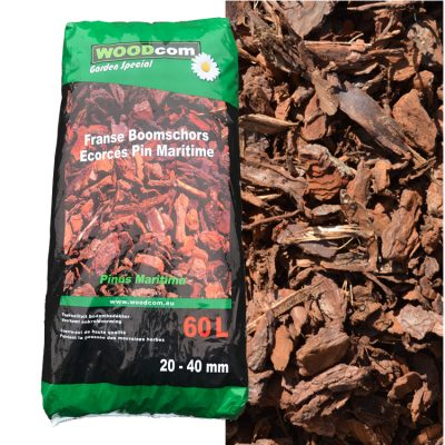 D'écorces Pinus Maritima sac (20-40mm) 60L