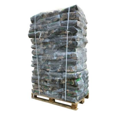 Bois de chauffage mix bois franc palette de sacs en plastique (+/- 720 kg) WOODcom