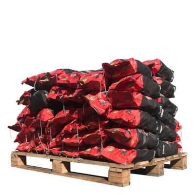 Kokosbriketten Thaise Kussenvormig pallet (450kg) (zakjes van 3Kg)