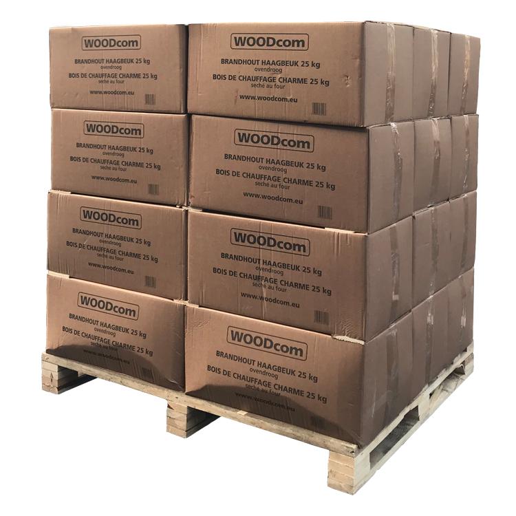Brandhout HaagBeuk ovendroog pallet dozen (525Kg)