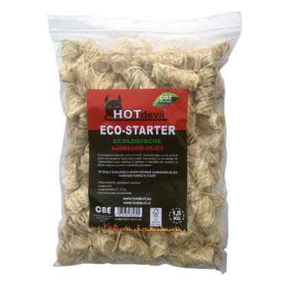 HOTdevil Zak Eco Aanmaakkrullen/wokkels (1,5Kg) WOODcom