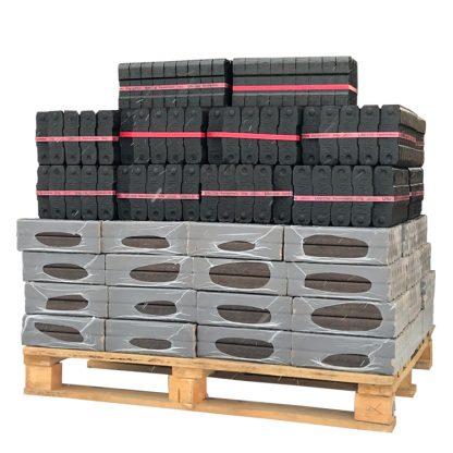 HOTdevil Pallet Combi briketten pro gemengd - Pinikay + Bruinkool (930Kg) WOODcom