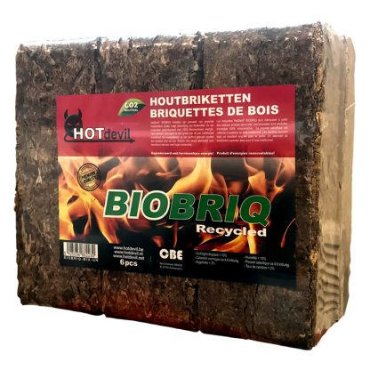 HOTdevil Pak BioBriq rufbriketten (9Kg) WOODcom