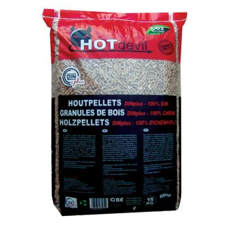HOTdevil zak pellets 100% eik WOODcom