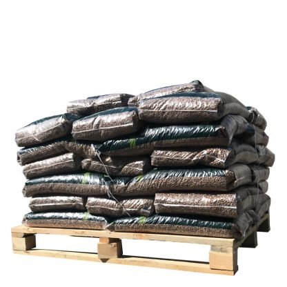 Pellets 100% Eik halve pallet (480Kg) - WOODcom