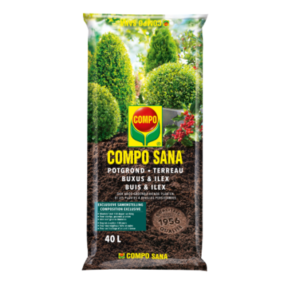 Compo Sana® potgrond buxus & ilex (zak 40L)