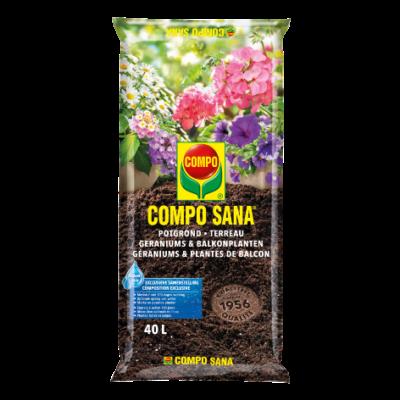 Compo Sana® potgrond geraniums & balkonplanten (zak) (40L)