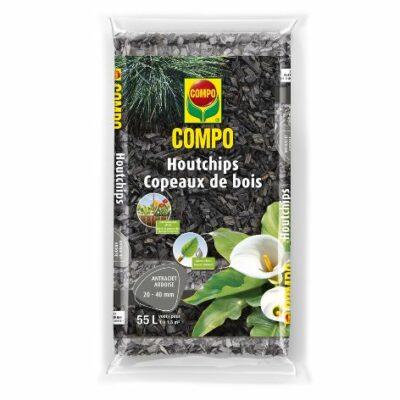 Compo houtchips – antraciet (zak 55L)