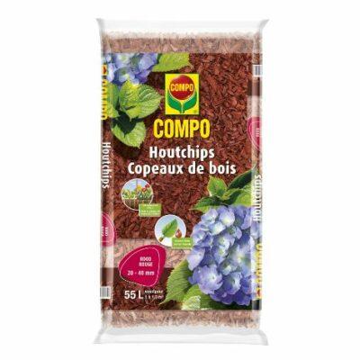 Compo houtchips – rood (zak 55L)