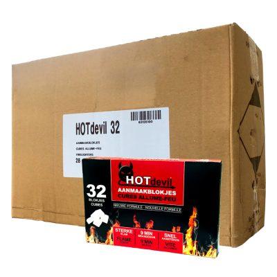 Lighter aanmaakblokjes doos oververpakking
