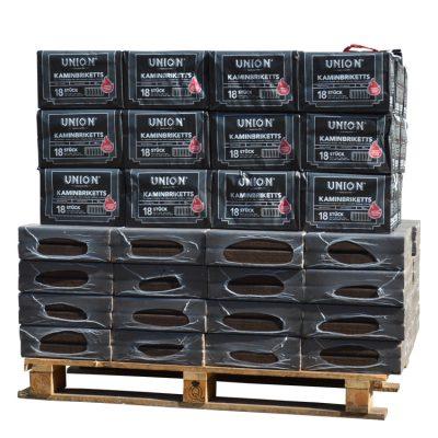 Combibriketten gemengd - Pini kay eik + Bruinkool pallet (930Kg)