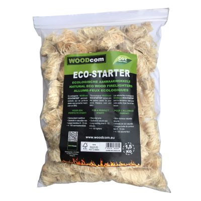 ECO-STARTER aanmaakkrullen zak (1,5Kg)