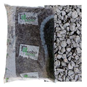 Siergrind Nero Basalt (8-11mm) zak (25kg) WOODcom